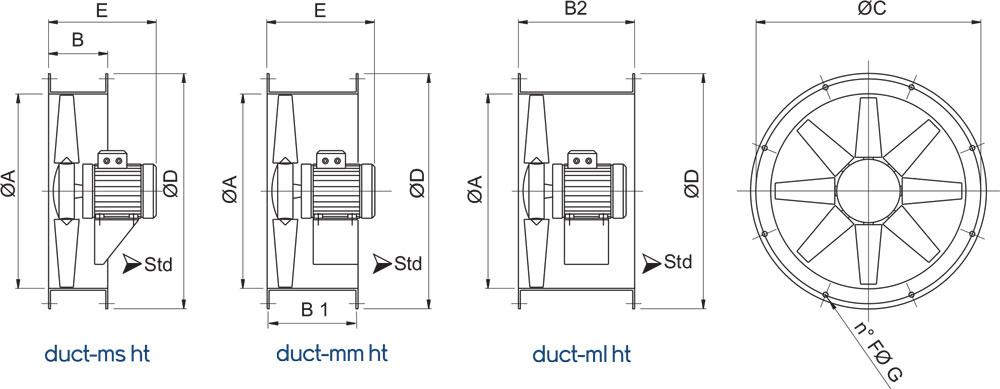 Dimensione-duct-m-ht